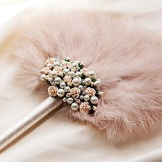 *~Fleur-pale pink feather fan~* I imagine my husband fanning me with this, while I lay on a fainting couch or better yet a chair on the beach! :D