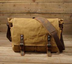 0ef95abb1e6c Waxed Canvas Messenger Bag   Leather Messenger Bag   Laptop Messenger Bag   Men  Messenger Bag   Messenger Bag Men   Satchel   Briefcase men(S23) from Uni4  ...