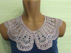 Lace Collar, Crochet Top, Crochet Necklace, Women, Fashion, Crocheting, Blouses, Moda, Fashion Styles