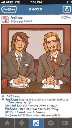The Hobbit social media AU by cargsdoodles