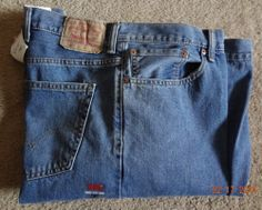 Levi's Big & Tall 52-34 NWT 100% Cotton Zipper Fly Blue Jeans Made In Mexico Wow