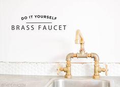 Vintage Revivals | DIY Brass Bridge Faucet