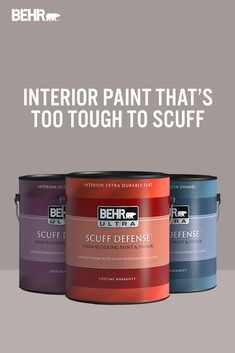 Each room in your home is important to us because it's important to you. Now with BEHR ULTRA® SCUFF DEFENSE™ Interior Paint, you can rest easy. Protect your walls from scuffs and daily wear and tear in style with this stain-blocking paint and primer. Click below to learn more.