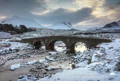 Scotland ~ River Sligachan & The Old Bridge, Isle of Skye winterscape