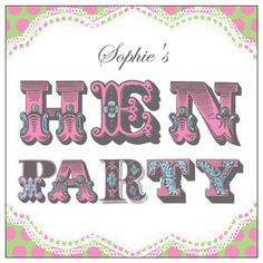 Hen Party - personalised hen party invitation cards