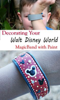 Decorating MagicBands with paint is quick and easy! Within minutes you'll have a personalized key to the Magic of Walt Disney World that is uniquely you. Disney Vacations, Disney Trips, Disney Parks, Disney Travel, Disney Diy, Disney Crafts, Disney World 2017, Six Flags Great Adventure, Disney Universal Studios