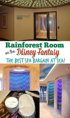 Rainforest Room on Disney Fantasy - The Best Spa Bargain at Sea! There's no doubt that the Senses Spa & Salon is the most relaxing spot on the Disney Fantasy. And the best deal is the Rainforest R Disney Halloween Cruise, Disney Fantasy Cruise, Disney Dream Cruise, Disney Cruise Ships, Disney Land, Disney Travel, Disney Magic, Disney Parks, Walt Disney