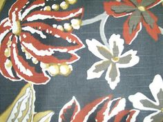 Floral Print- Set 22, 38- Linen by the YARD