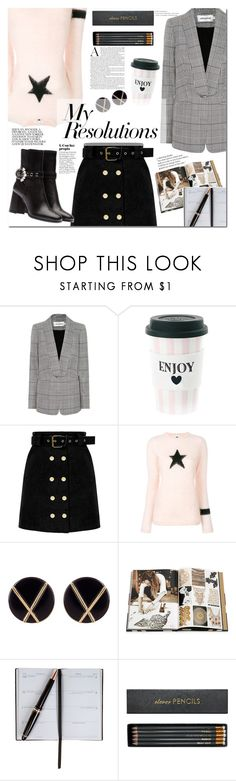 """#PolyPresents: New Year's Resolutions"" by mery90 ❤ liked on Polyvore featuring self-portrait, Miss Étoile, Bella Freud, Botkier, Rizzoli Publishing, Smythson, Sloane Stationery, contestentry, polyPresents and NewYearsResolutions"