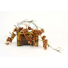 Great Price on Waterlook Draping Silk Brown Orchids in an Amber Rectangular Vase. Free Shipping. Faux Flower Arrangements, Neutral Tones, Faux Flowers, Home Accessories, Orchids, Centerpieces, Draping, Place Card Holders, Vase