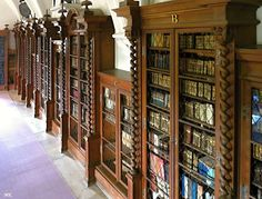 A medieval Pernštejn Castle in South Moravia, Czech Republic, and its #library room