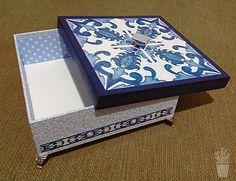 Caixa decorada com forração