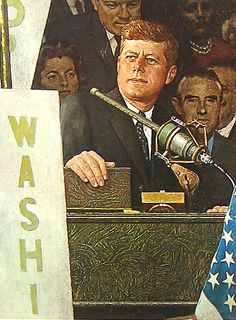1960 Democratic Convention - by Norman Rockwell