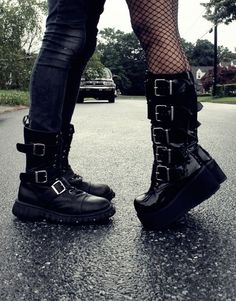 5 Astonishing Cool Tips: Balenciaga Shoes Cost shoes quotes people. The Effective Picture Dark Fashion, Gothic Fashion, Fashion Shoes, Botas Goth, Lolita Outfit, Cute Shoes, Me Too Shoes, Awesome Shoes, Style Punk Rock