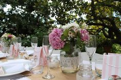 table setting Table Settings, Table Decorations, Party, Pink, Home Decor, Decoration Home, Room Decor, Place Settings, Parties