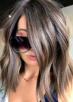 Looking for most famous and demanding hair color ever? See here the most sensational ideas of various balayage hair colors and shades to show off in 2018. Here we have post our favorite balayage hair color designs for you so that you may get stunning hair color looks in the recent time. It is one of celebs used color. Hair Color And Cut, Ombre Hair Color, Hair Color Balayage, Cool Hair Color, Brown Hair Colors, Haircolor, Grey Brown Hair, Balayage Highlights, Subtle Highlights