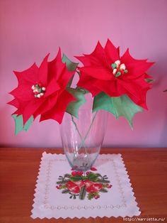 Рождественская звезда ПУАНСЕТТИЯ из гофрированной бумаги (42) (480x640, 159Kb)