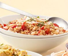 6 HEALTHY WHOLE-GRAIN DINNER RECIPES: Think outside the brown-rice box and tap the slimming powers of whole grains like bulgur, barley, and quinoa with these 6 delicious, satisfying dishes.