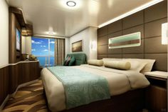 Mini-Suite Rendering – Norwegian Escape to Offer Wide Variety of Accommodations | Popular Cruising (Image Copyright © Norwegian Cruise Line)
