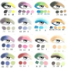 Great eyeshadow placement guide for my girlfriends out there who ideas de combinacin de colores en maquillaje de ojos ccuart Choice Image
