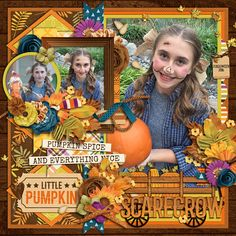 Credits: Cindy's Layered Templates - Half Pack 174: Photo Focus 80 by Cindy Schneider Pick Of The Patch by Digital Scrapbook Ingredients Halloween Layout Digiscrap Scrapbook Ideas Layout by Kjersti Sudweeks