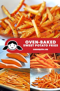 Baked sweet potato fries are so easy to make at home! This healthy and delicious… Baked sweet potato fries are so easy to make at home! This healthy and delicious vegetable side dish will satisfy your cravings for french fries! Making Sweet Potato Fries, Sweet Potato Recipes, Whole30 Sweet Potato Fries, Whole Baked Sweet Potato, Oven Fried Potatoes, Paleo Side Dishes, Nom Nom Paleo, Fast Food, Keto