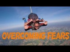 Hey guys , It's Jaime from fitness after 40 . Today I wanted to talk about overcoming fears . I overcame my fear fear of skydiving . Skydiving, Scary, Guys, Fitness, Youtube, Movies, Movie Posters, Films, Film Poster