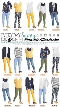Old Navy Winter to Spring Outfits Capsule Wardrobe Cute Late Winter and Early Spring Outfits Capsule Wardrobe. Great casual and going out outfits for women. All from Old Navy. Great for travel, moms and more. Going Out Outfits For Women, Casual Outfits For Moms, Mom Outfits, Clothes For Women, Clothes Sale, Women's Clothes, Clothes Shops, Everyday Outfits, Spring Outfits Women Casual