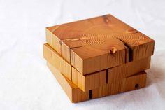 Fir Trivet. A great idea for cut ends of lumber.
