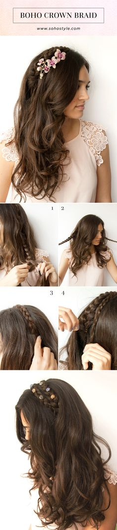 Our Model Laurel is wearing our Romantic Rose Comb in this hair tutorial. Check out our Website for more Hair Accessories & Hair Extensions! sohostyle.com