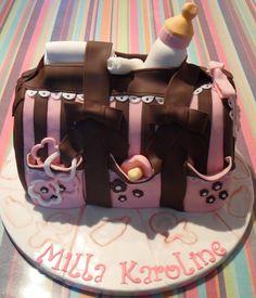 Baby shower bag cake by SweetFairytales  #creationoftheweek