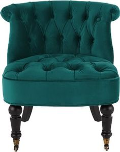 Bouji Accent Chair, Seafoam Blue Velvet from Made.com. Upholstered in plush cotton-velvet, Bouij's baroque-inspired design fuses a traditional silho..