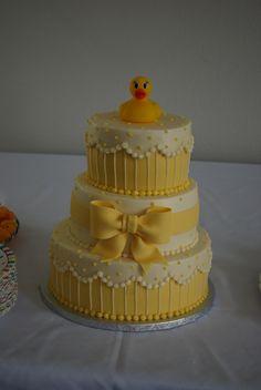 Rubber Duck Baby Shower, Rubber Duck Cake