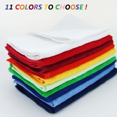 12  Hemmed Fingertip Towels 100% Cotton Terry Velour 11X18 Embroidery Crafts