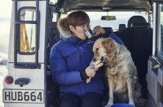 Lee Min Ho Brand:Eider  / Korea News Report: By MT on 07 September 2015 이민호, 남다른 犬사랑..그 개 참 행복하겠네~ :: 네이버 TV연예