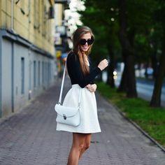 Shop this look on Kaleidoscope (skirt, shirt) http://kalei.do/X3s3ZZnrYFNzOqte