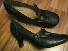 Hush Puppies Black Leather Court Shoes Size 5 (Worn Twice) #HushPuppies #Court