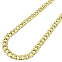 International 10k Gold 6.5mm Hollow Cuban Curb Link Necklace