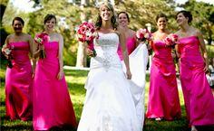 damas-honra-adultas: a idéia seria o bouquet com branco e azul e as damas de vestido azul e bouquet branco