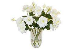 "Style Spotlight  18"" Lisianthus in Vase, Faux  $240/185"