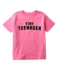 $9.99 marked down from $25! Raspberry 'Tiny Teenager' Tee - Toddler & Girls #funny #toddler #girls #zulily! #zulilyfinds