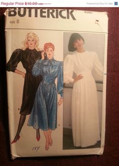 Uncut Butterick Sewing pattern 6207 Size 8 by EarthToMarrs on Etsy