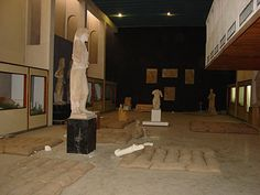 The interior of Mosul museum showing the precautions museum staff had been able to make prior to the 2003 invasion of Iraq by Joanne Farchakh Bajjaly