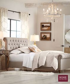 The impact of bedroom furniture will make you have a good night's sleep. Let's face it, and a modern bedroom furniture design can easily make it happen. Modern Bedroom Furniture Sets, Bedroom Sets, Home Bedroom, Furniture Vintage, Airy Bedroom, Light Bedroom, Bedroom Dressers, Beige Headboard, Upholstered Beds