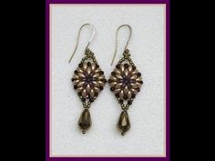 ▶ Oh Earrings - YouTube o-beads, superduo, 3mm bicons, 10x8 teardrops, 11/0 seed beads, 4 or 6lb fireline