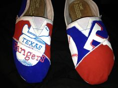 Texas Rangers Toms!!! Love ❤ hand-painted