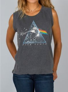 Pink Floyd Muscle Tank - Tops - Womens
