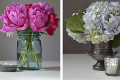 Mother's Day brunch calls for celebratory centerpieces. Reflect the guest of honor with DIY floral arrangements.