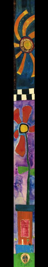 Wall Planks 1 (3 to 4 feet) - Painted Peace - Wood Art of Stephanie Joan Burgess. Also does Art Poles for the garden