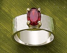 Christmas Collection: Julietta Ring with Garnet #JamesAvery